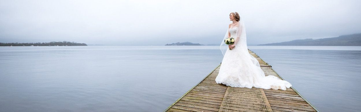 A bride on her wedding day in Argyll by Ian Arthur, one of the few wedding photographers in Glasgow who offers so much experience.