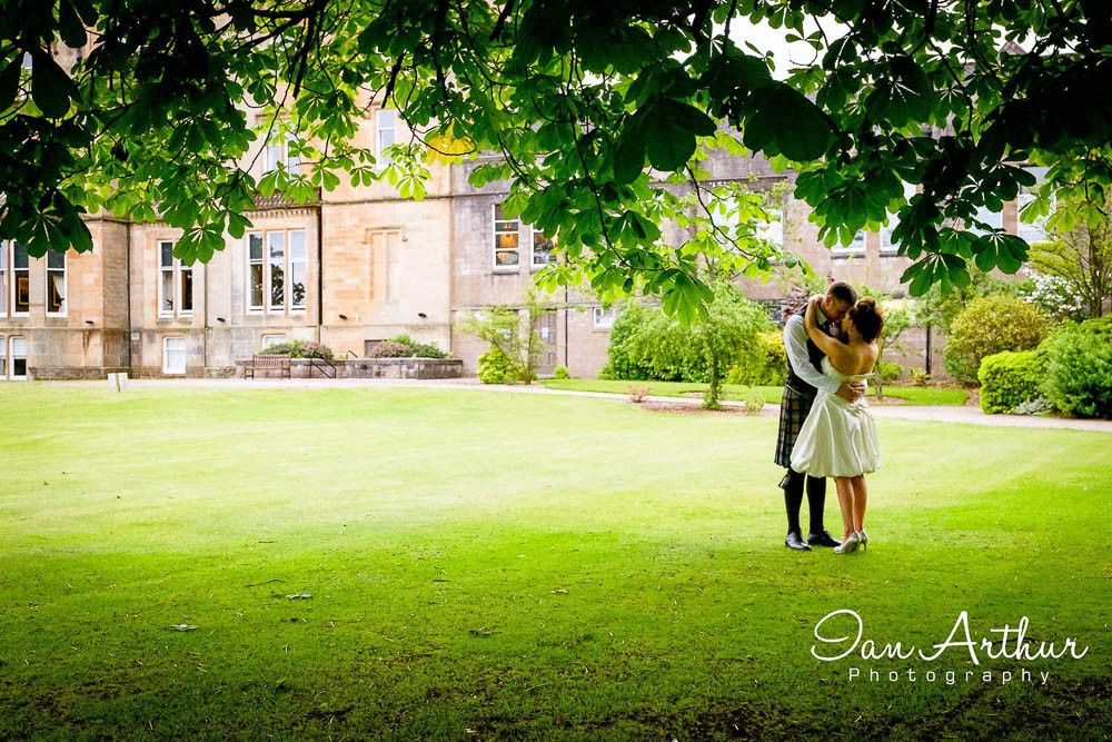 Elegant wedding photography by Glasgow & Loch Lomond Photographer In Arthur
