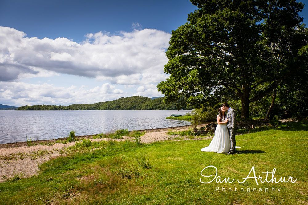 Loch Lomond Waterfront Wedding Photographer in Argyll