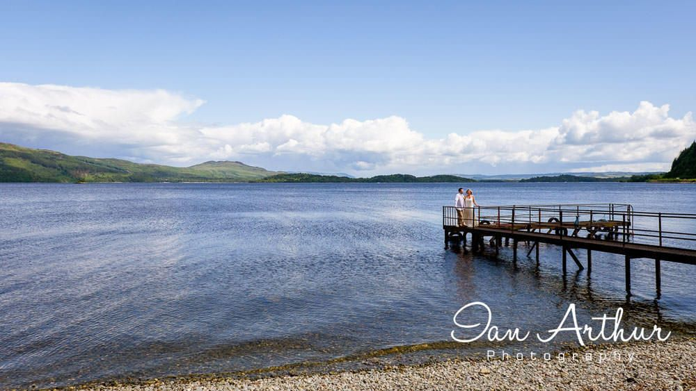 Elegant wedding photography by Glasgow & Loch Lomond Photographer In Arthur
