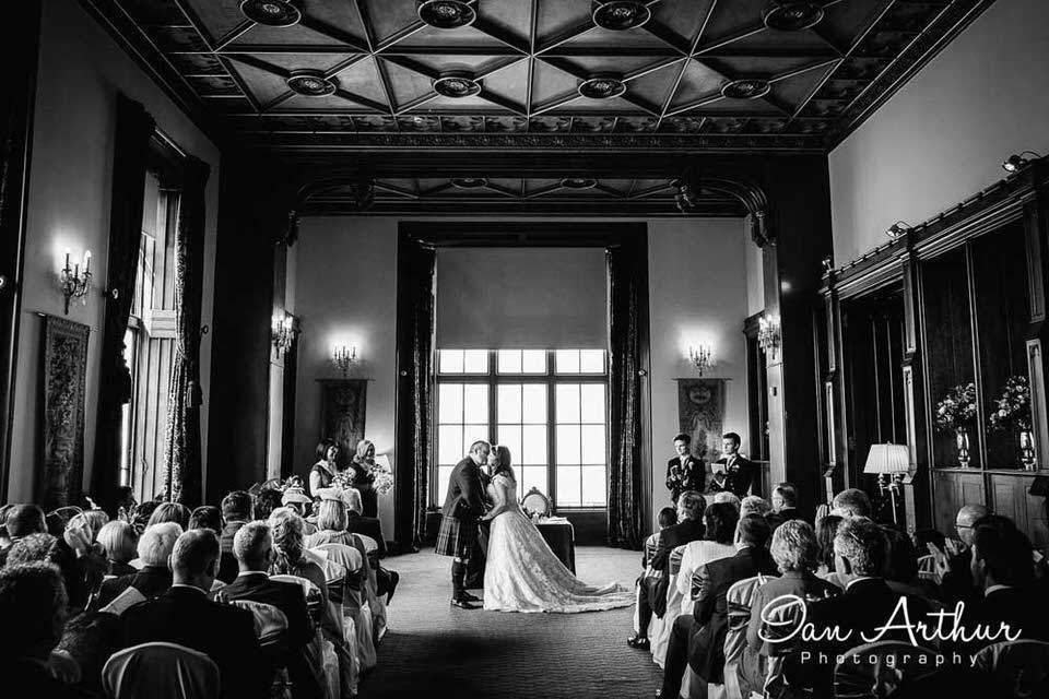 Marr Hall Wedding Photographer at Bishopton