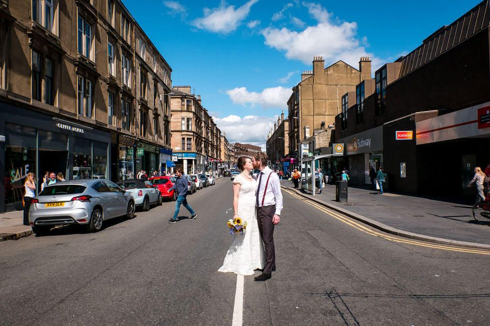 Glasgow Register Office & the Bothy West End Wedding Photographer
