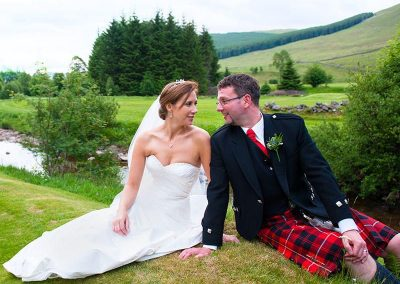 kirsten and colin at dalmunzie castle by ian arthur photography
