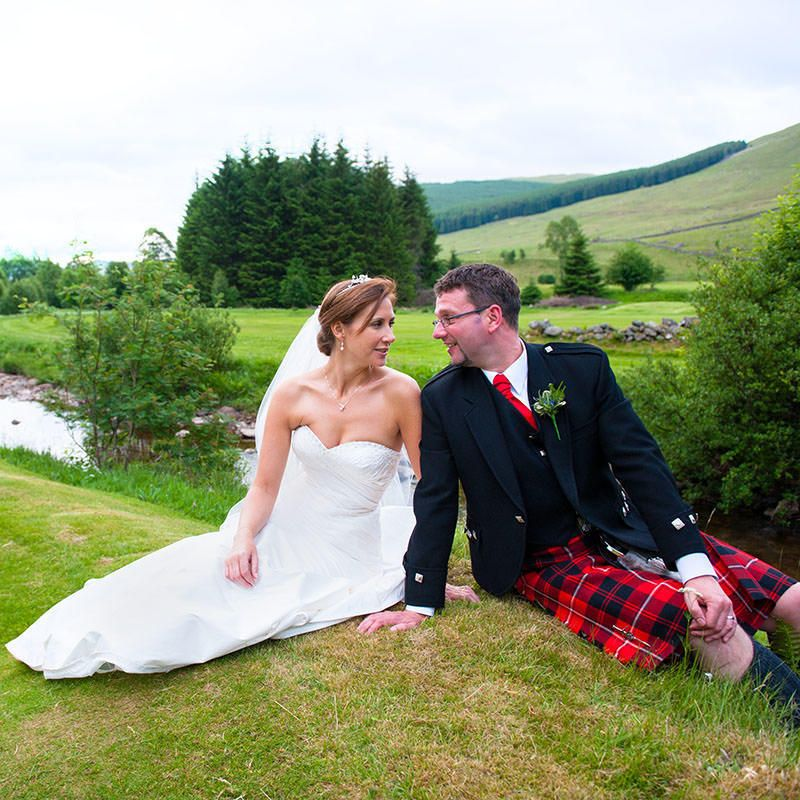 Kristen and Colin's Wedding at Dalmunzie Castle