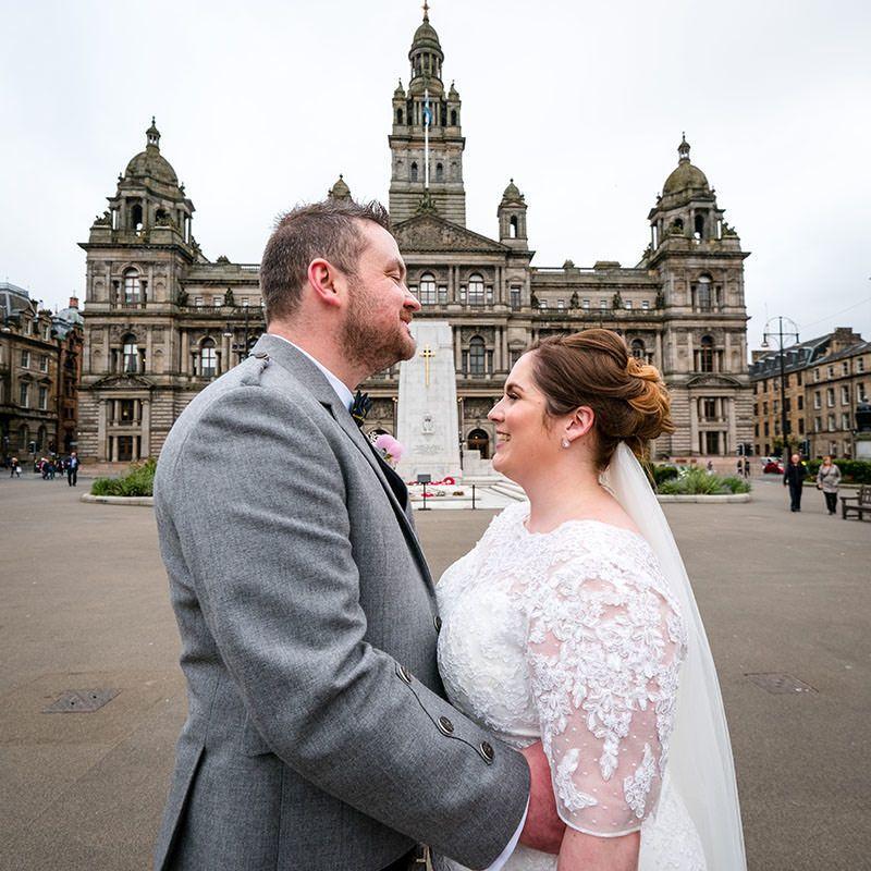 Krystie and David's wedding in Glasgow