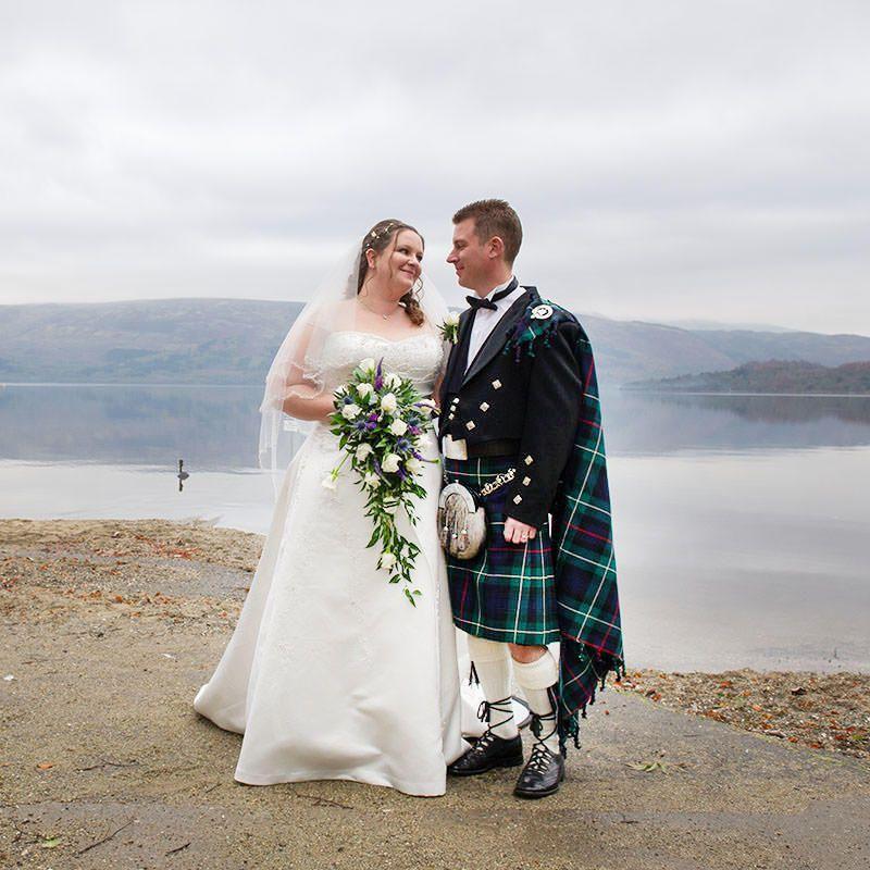 Sarah and Chris at Loch Lomond by Ian Arthur Wedding Photography
