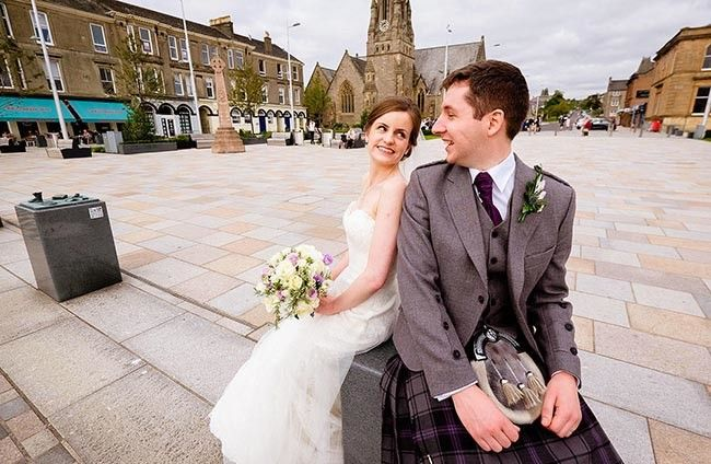 Ian Arthur Photography capturing the wedding smiles in Helensburgh