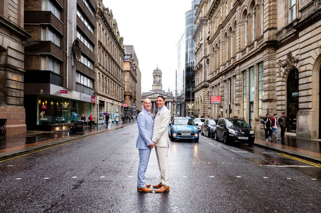 Photography for same sex weddings in Glasgow and Scotland by Ian Arthur Wedding Photography