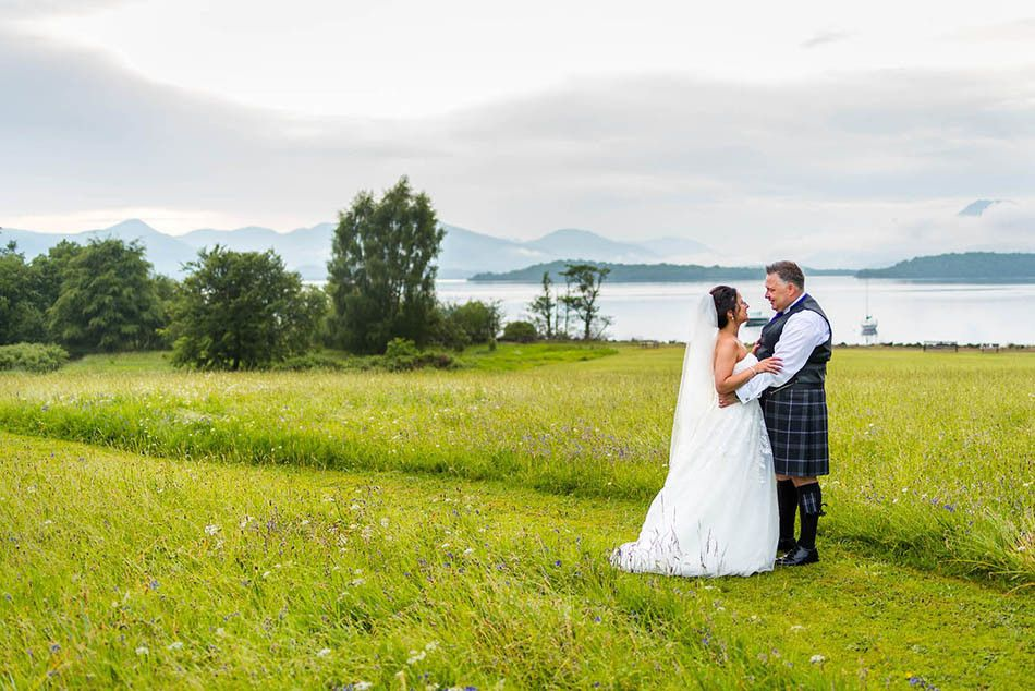 Some weddings are so romantic, especially at Loch Lomond Ross Priory