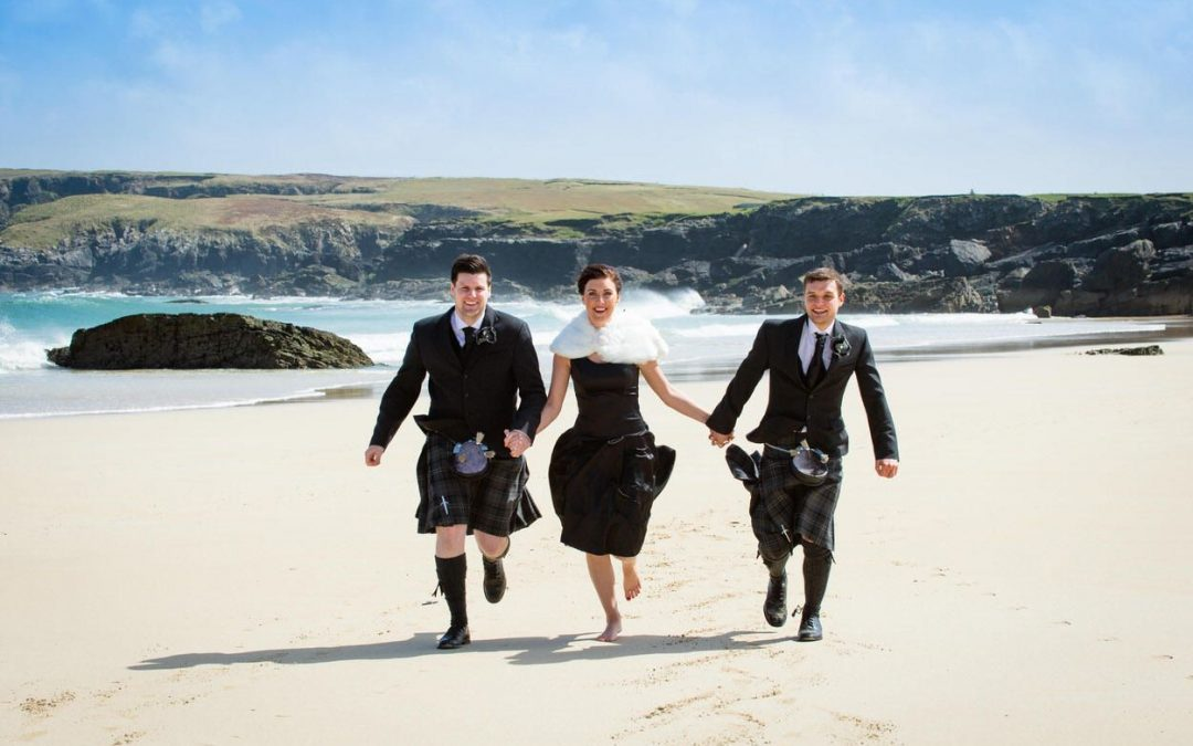 One of my Favourite Wedding Day Pictures on the Isles of Lewis