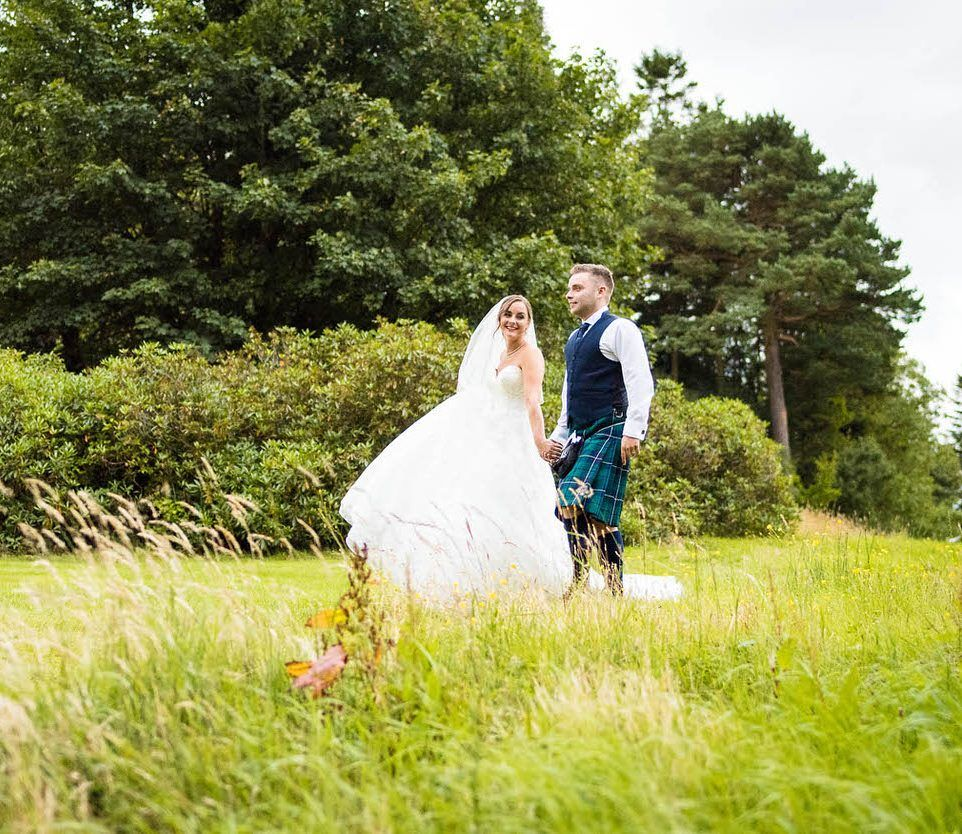 A big wedding and a big day at Glasgow University and Crutherland House