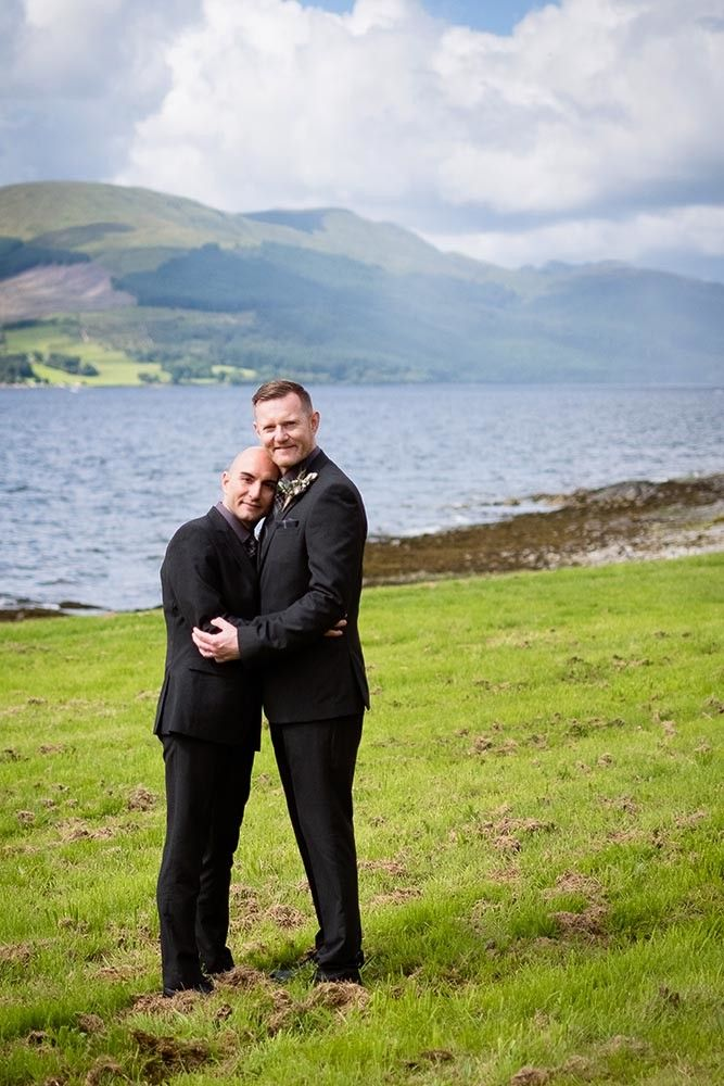 Creative and Elegant Wedding Photography in Glasgow and Argyll for same sex weddings by Ian Arthur