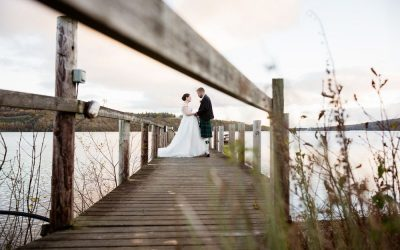 Inchmurrin Island wedding castaways at Loch Lomond