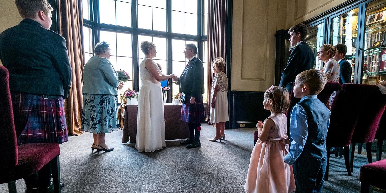 Kind words and a stolen moment captured by Ian Arthur Wedding Photography