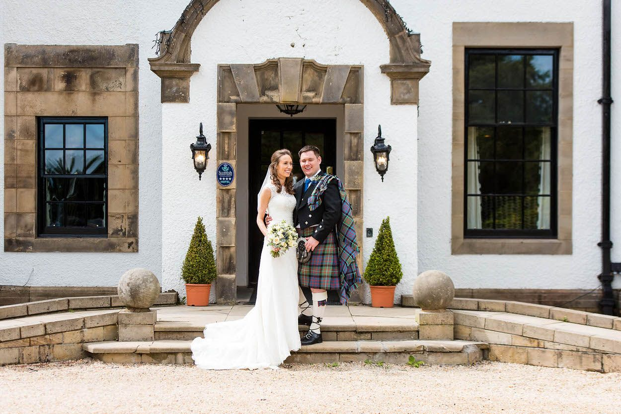 Zoe & James at their summer wedding at Gleddoch House & Country Club