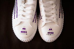 practical shoes for those practical brides by Glasgow Wedding Photographer Ian Arthur