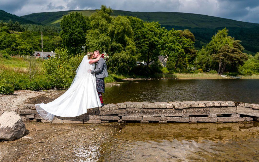A beautiful summer wedding at Kinlochard & Aberfoyle in Stirlingshire