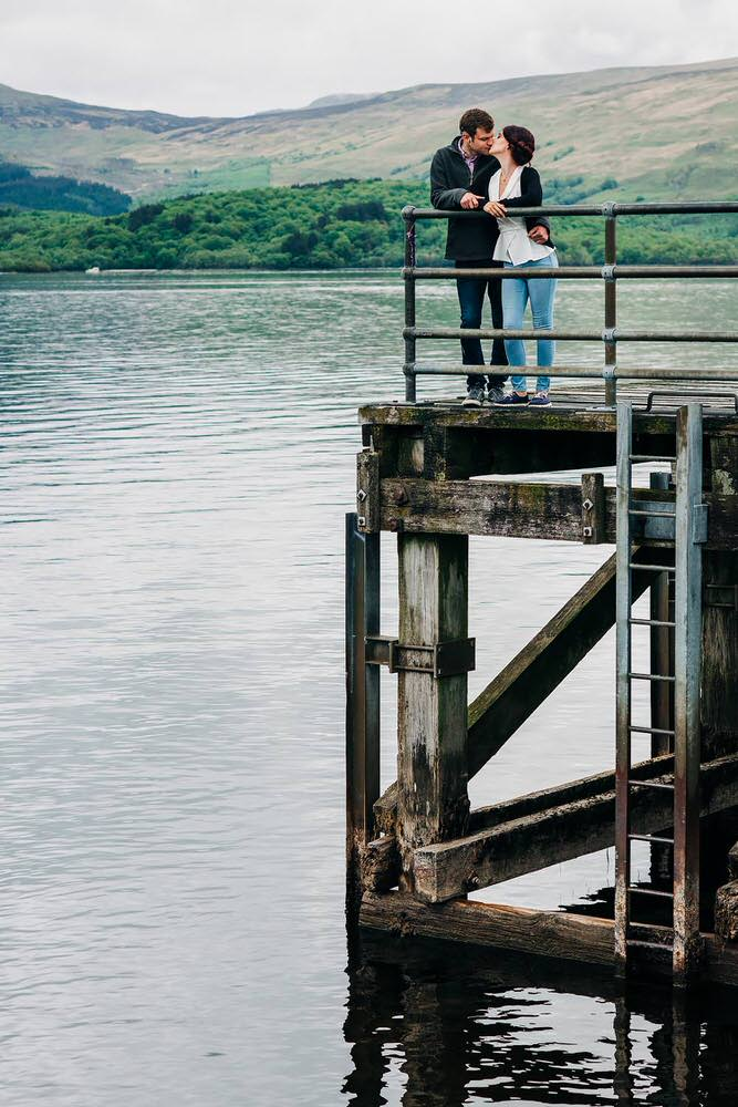 pre-wedding portraits at Loch Lomond