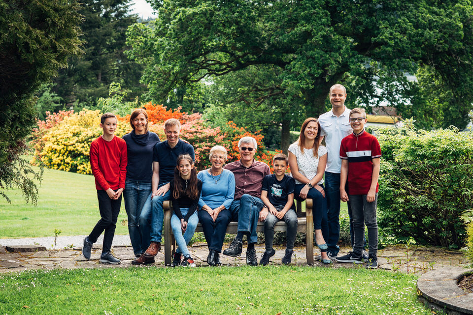 A sunny Family Portrait Shoot in Aberfoyle