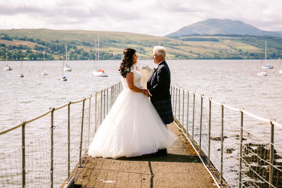 Lesley & Charles are Married in the Helensburgh Sunshine