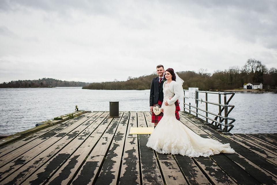 Roslyn & Alan's winter Wedding at the Lodge on Loch Lomond