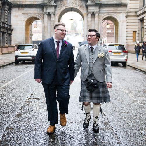 Rory & Scott's same-sex wedding in Glasgow