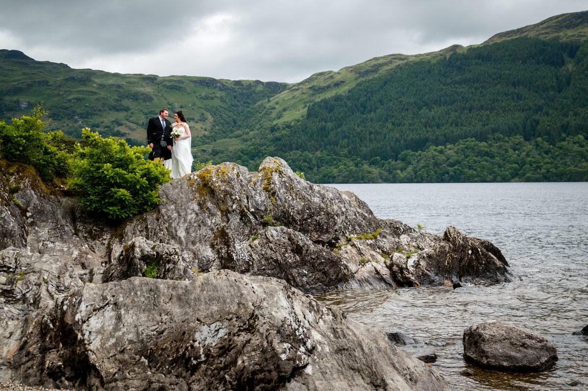 A summer wedding cruise on Loch Lomond with Abi & Phil